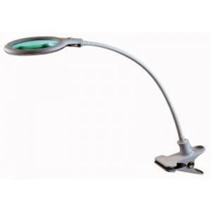 Lampada da tavolo a led con lente 5 diottrie con clip di fissaggio antei e paolucci - Specchio con lente di ingrandimento ...