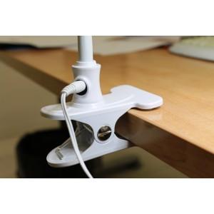 Lampada da tavolo a led con lente 5 diottrie con clip di fissaggio antei e paolucci - Lampada da tavolo con lente ...