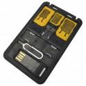 ADATTATORE SCHEDE SIM E LETTORE USB DI  MICRO SD