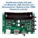 amplificatore audio 2x5w