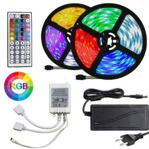 Kit Led RGB con Telecomando e Alimentatore