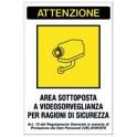 cartello avviso area videosorvegliata