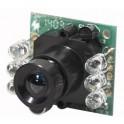 modulo telecamera b n con audio e illuminatore