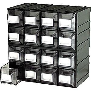 Cassetti In Plastica Componibili.Cassettiera Componibile 16 Cassetti Terry Vision 12