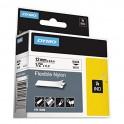 nastro in nylon per etichettatrice 12mm nero su bianco, serie Industrial