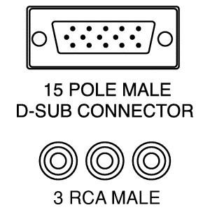 CAVO HDB VGA 15 POLI M. 3 SPINE RCA M. - 2 MT. 6057f2fb9918