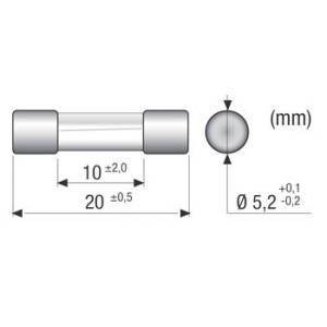 2 FUSIBILI  6,3x32mm  RAPIDI  1,25A in Vetro