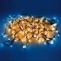 CATENA LUMINOSA 80 LED BLU CALDO PER ESTERNO/INTERNO