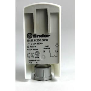 Schema Elettrico Interruttore Crepuscolare 230v : Interruttore crepuscolare v a marca finder modello