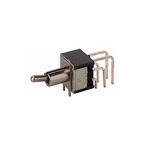 Deviatore levetta miniatura unipolare 2 posizioni circuito stampato ON-ON 250V